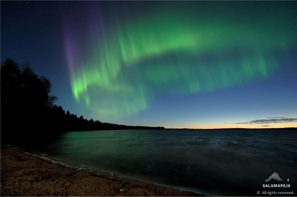Aurora 'Beach Party' in Finland