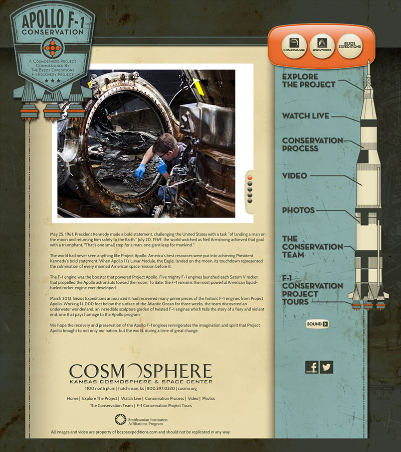 Website Chronicles Apollo Moon Rocket Engine Preservation: Watch Live