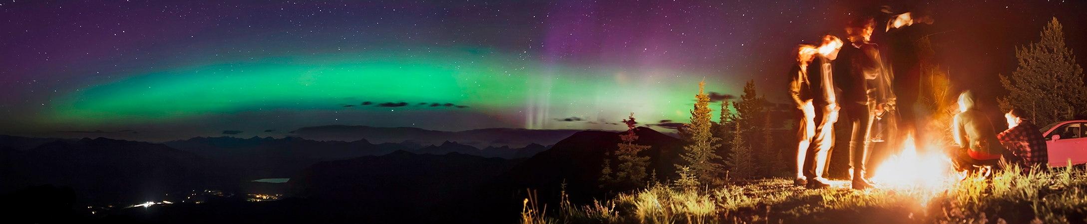 Aurora Over Desert Mountain, Montana