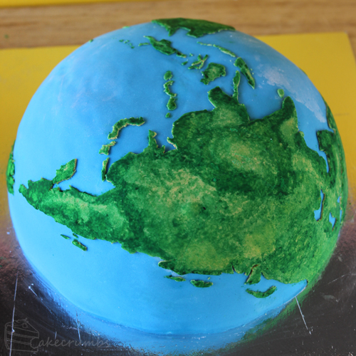 Asia on the Earth Cake