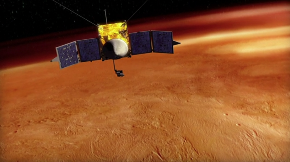 MAVEN Spacecraft Orbiting Mars Artist's Conception