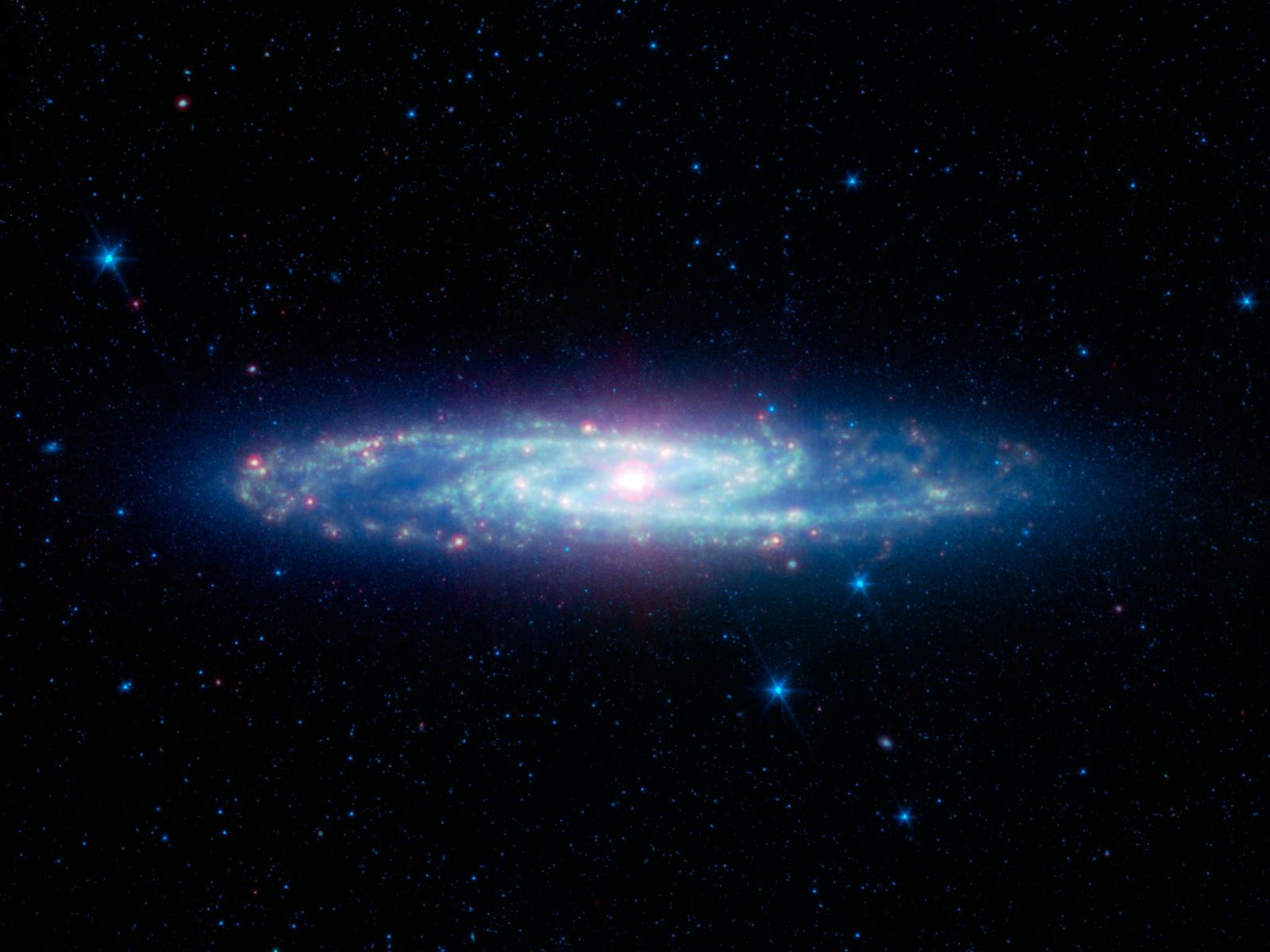 Sculptor Galaxy Spitzer Telescope space wallpaper