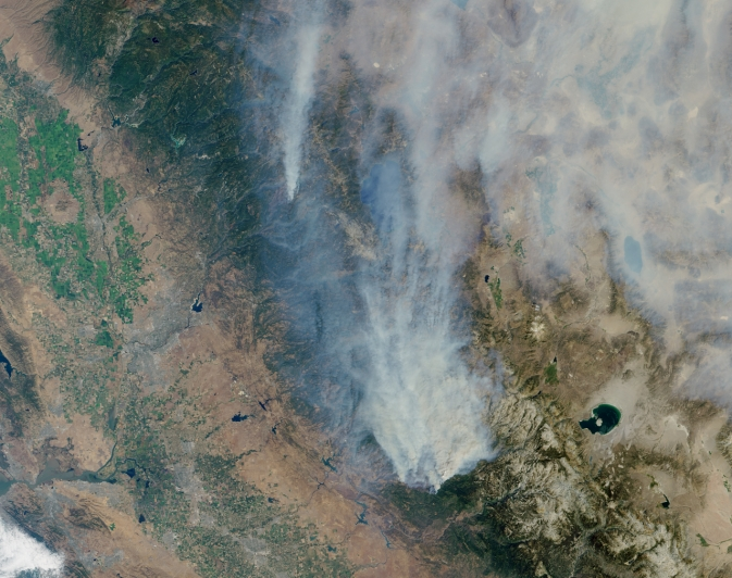 NASA Satellites Track California's Rim Wildfire from Space
