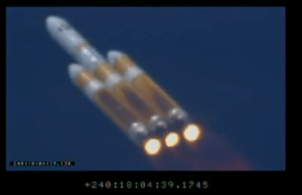 NROL-65 Spy Satellite Streaks toward Space