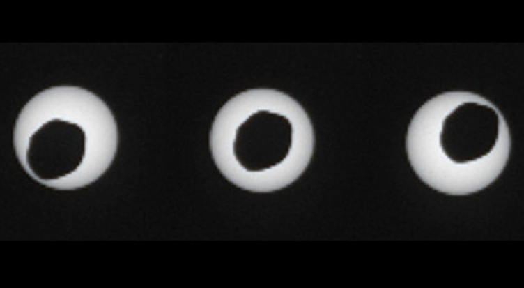 Curiosity Rover Photographs Martian Solar Eclipse