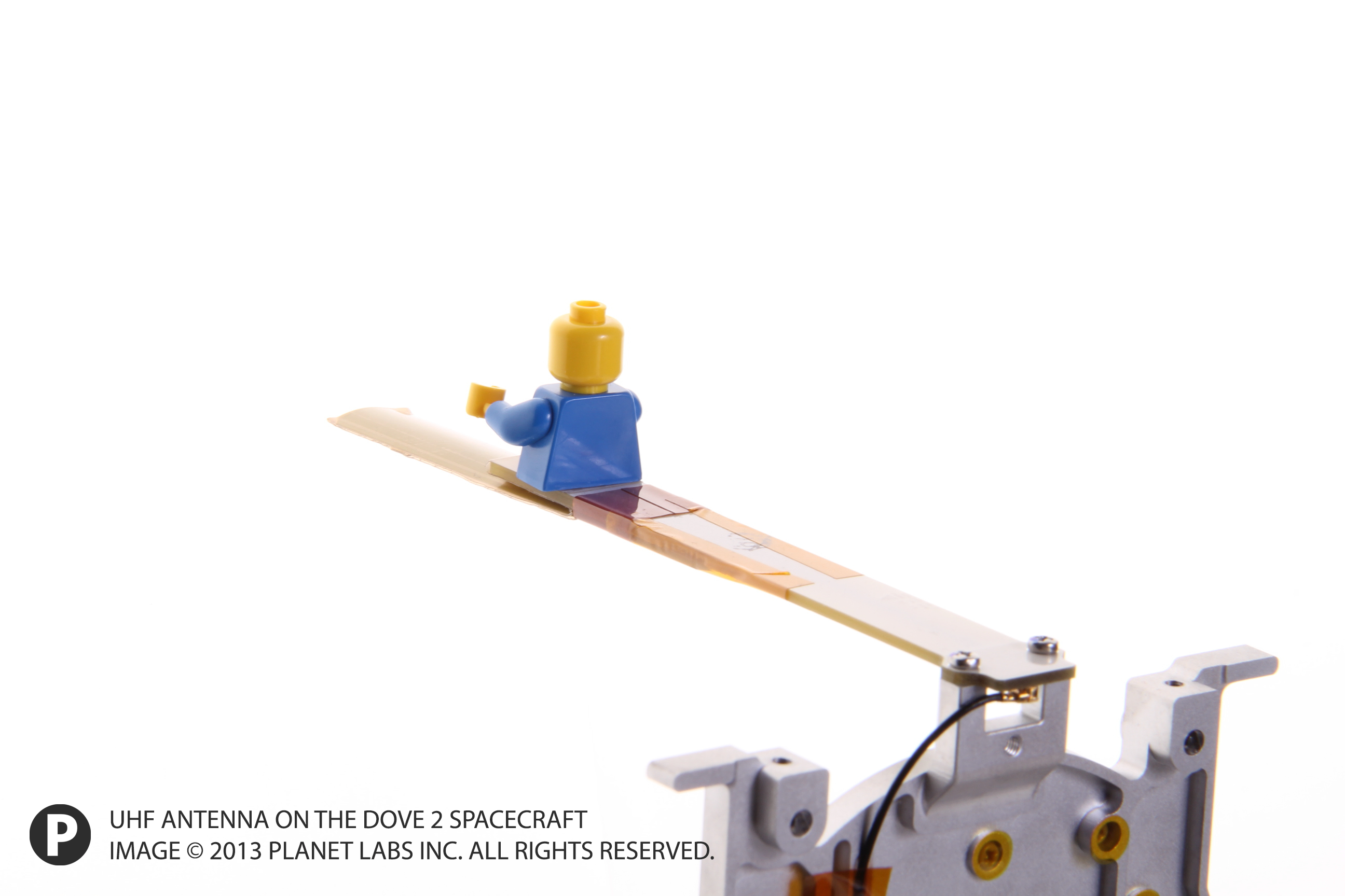 Lego Man on Dove 2 Antenna