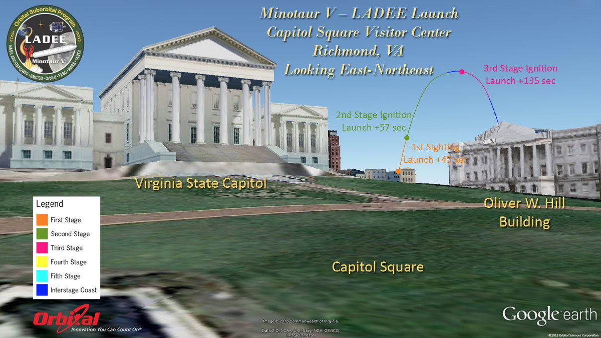 Potential View of LADEE Launch from Virginia State Capitol