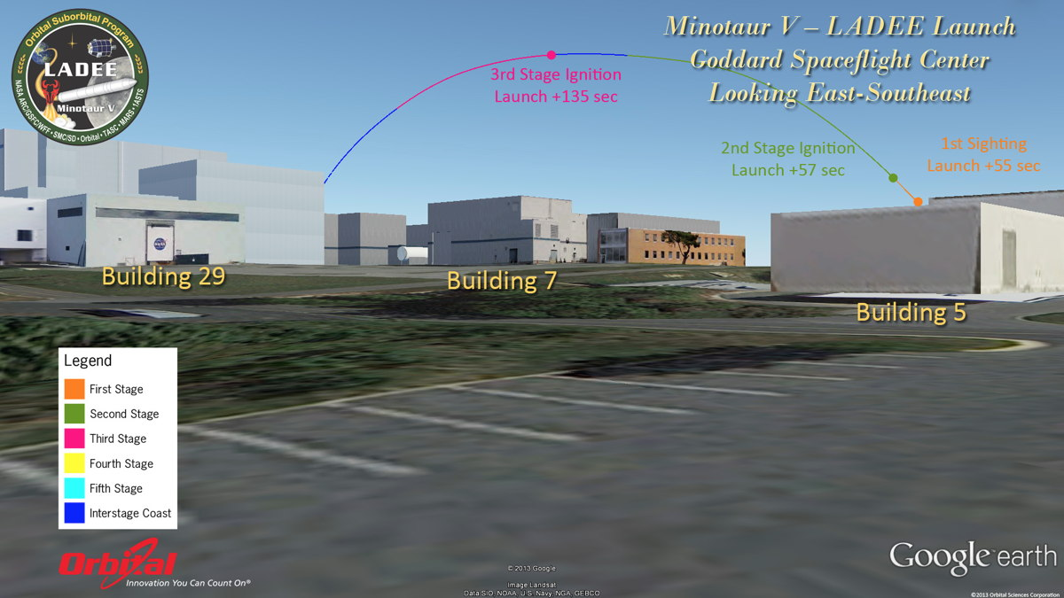 Potential View of LADEE Launch from Goddard Space Flight Center