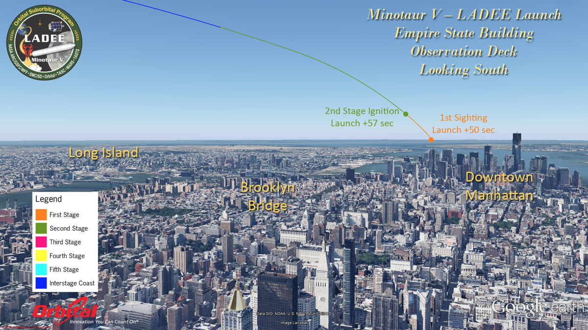 Potential View of LADEE Launch from Empire State Building