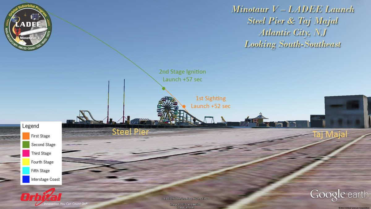Potential View of LADEE Launch from Atlantic City