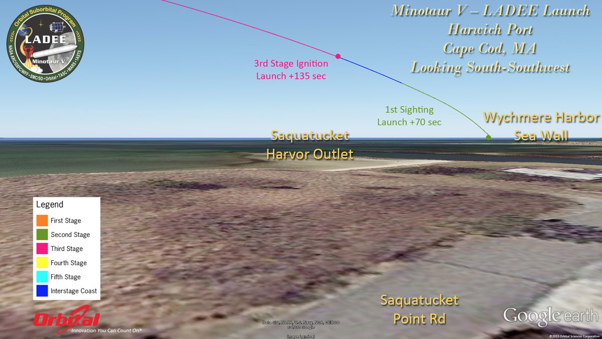 Potential View of LADEE Launch from Cape Cod