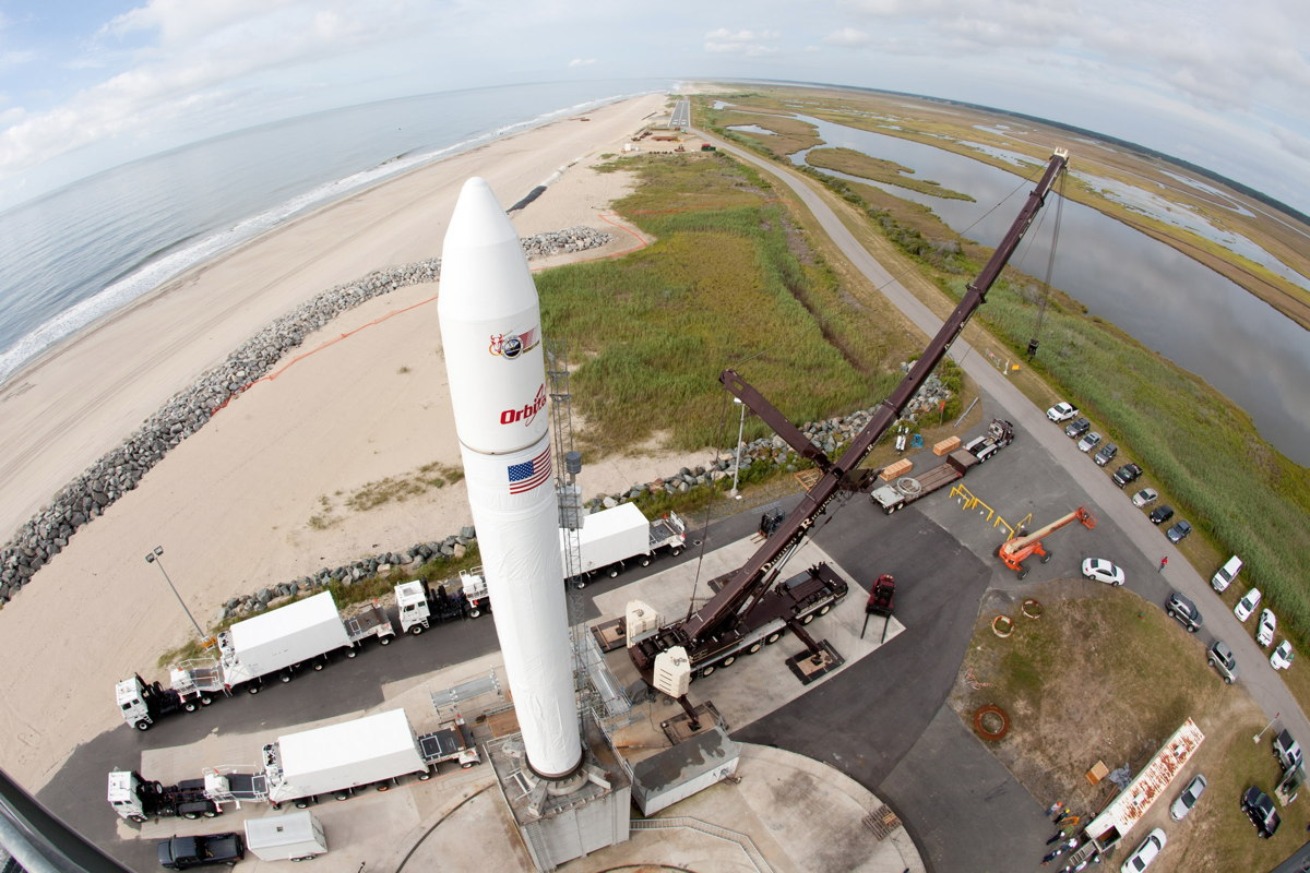 Wide-Angle View of Minotaur V Rocket