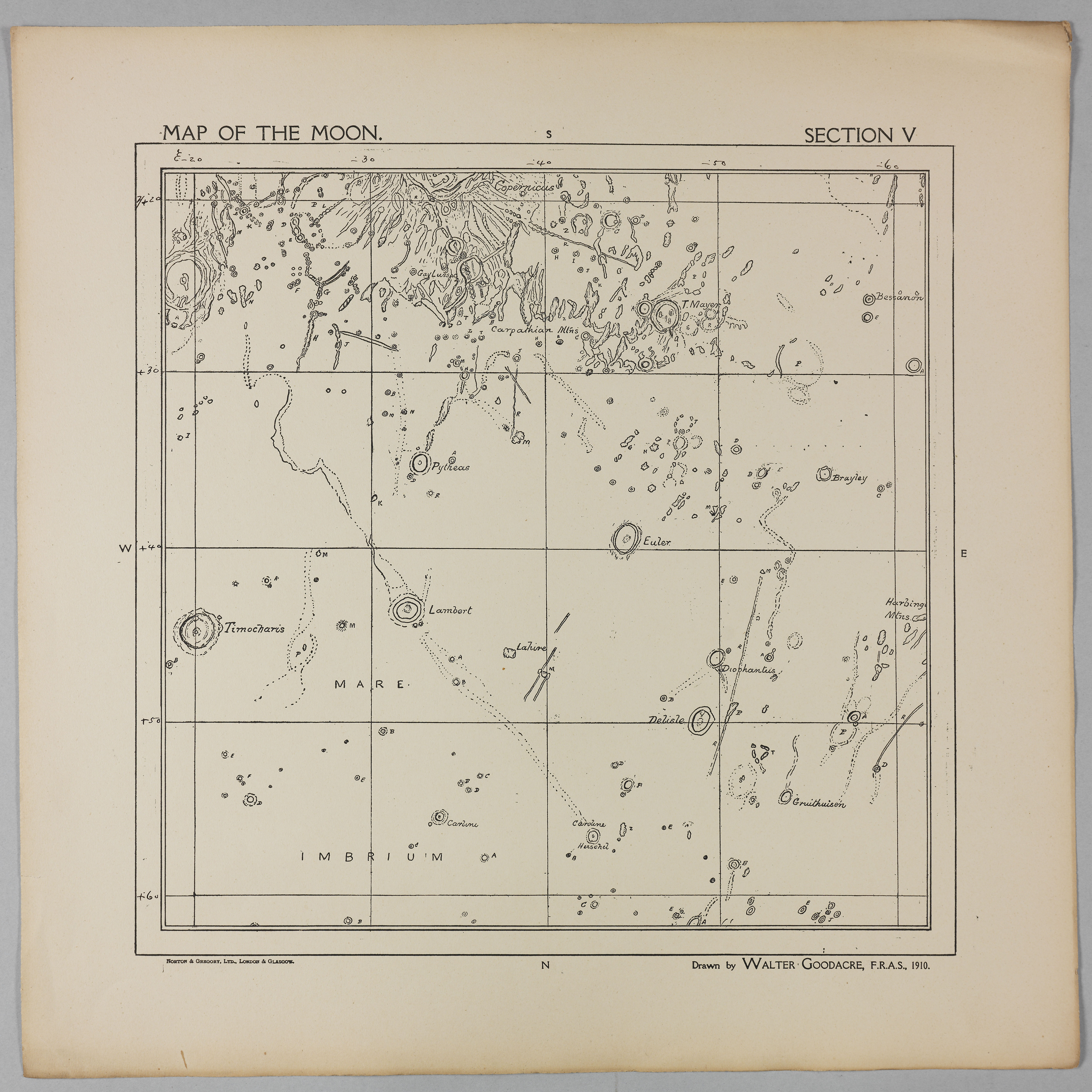 Goodacre's 1910 Map of the Moon: Section 5