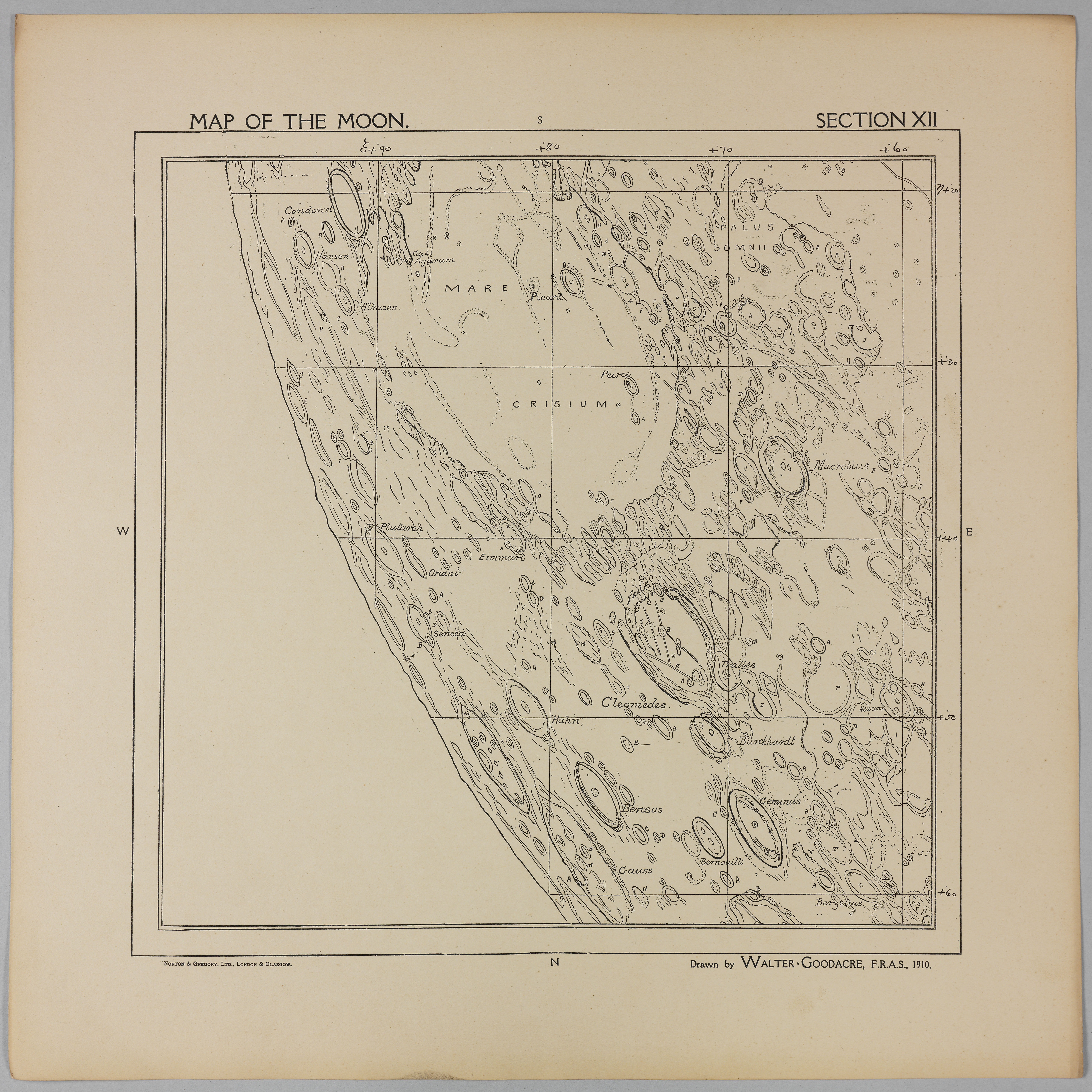 Goodacre's 1910 Map of the Moon: Section 12