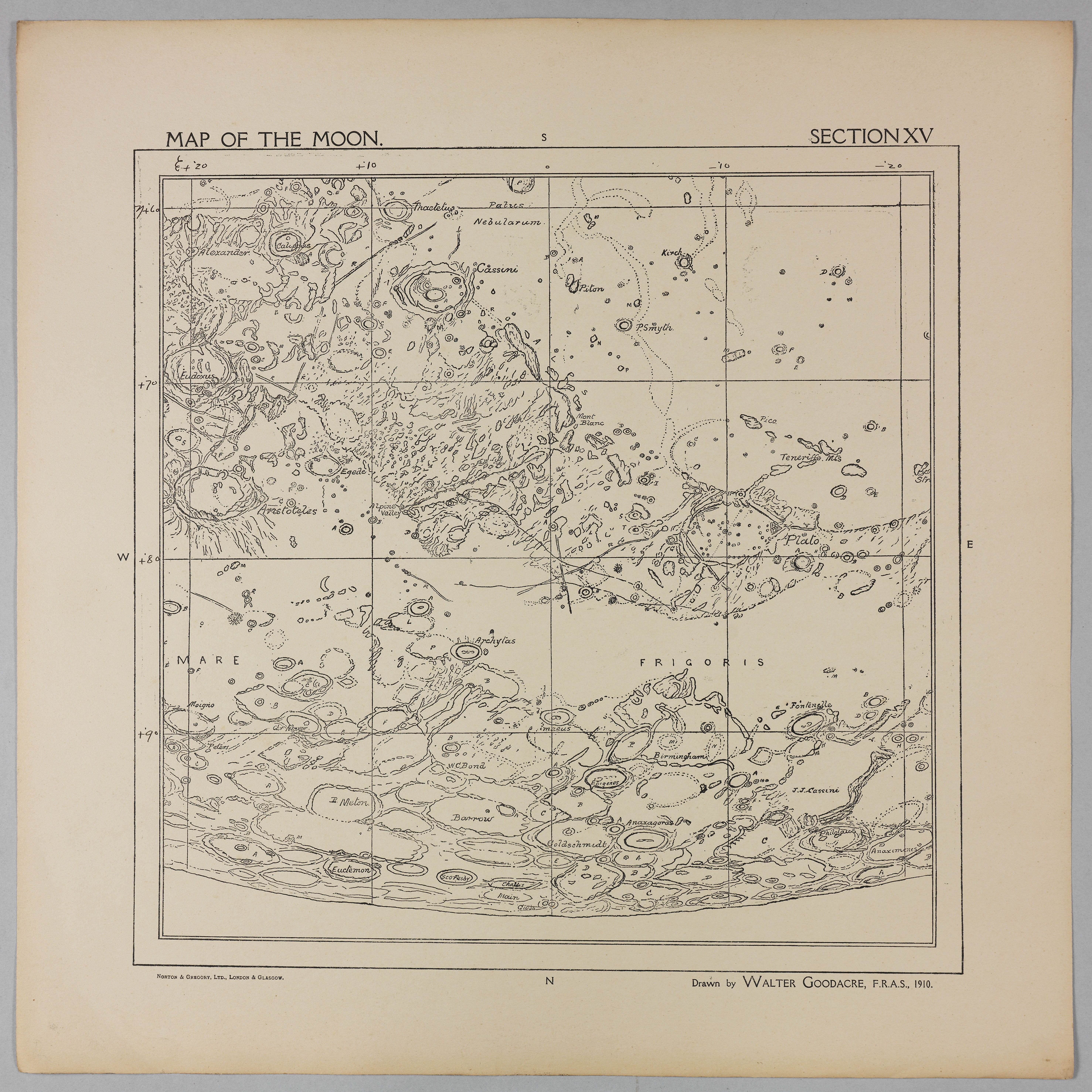 Goodacre's 1910 Map of the Moon: Section 15