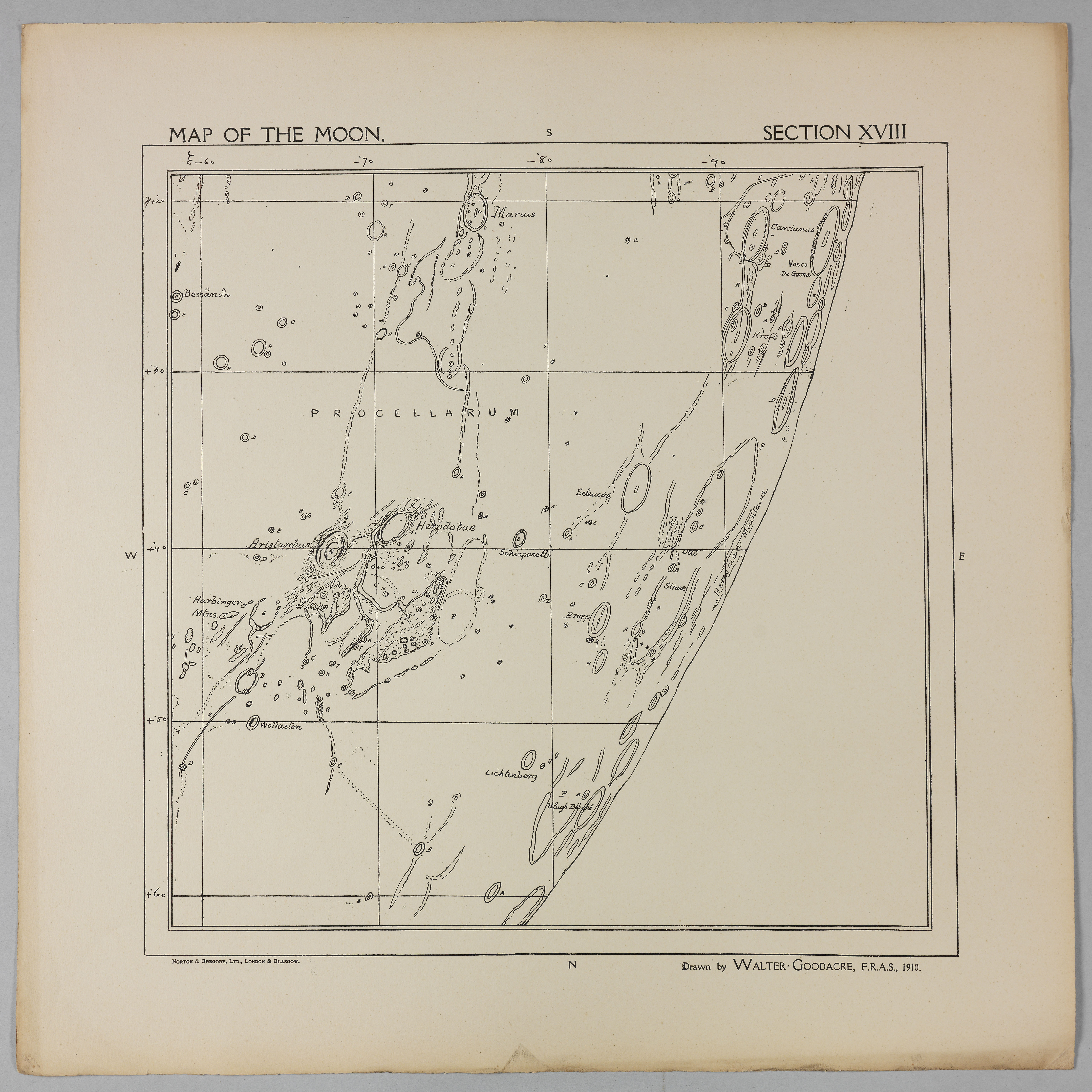 Goodacre's 1910 Map of the Moon: Section 18