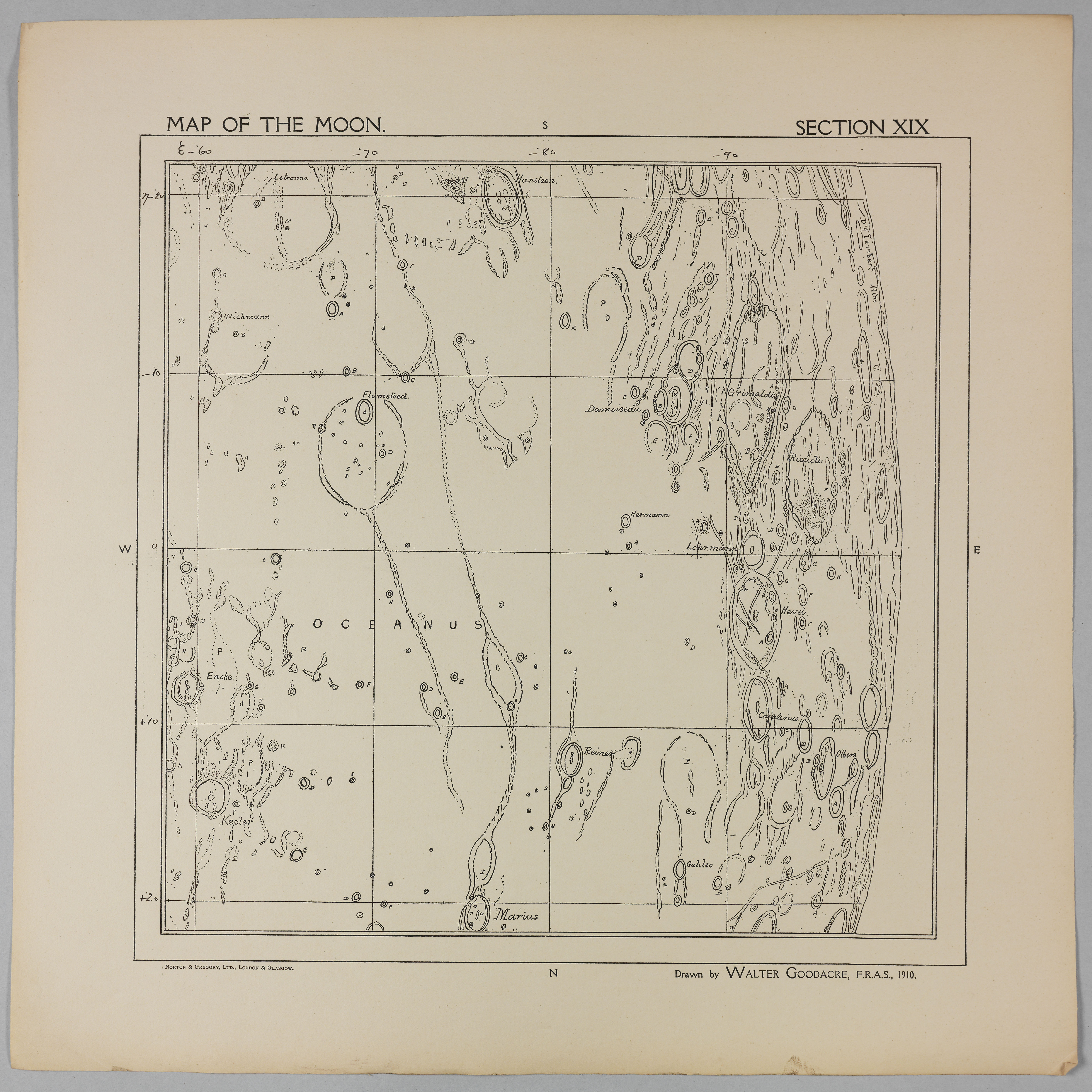 Goodacre's 1910 Map of the Moon: Section 19