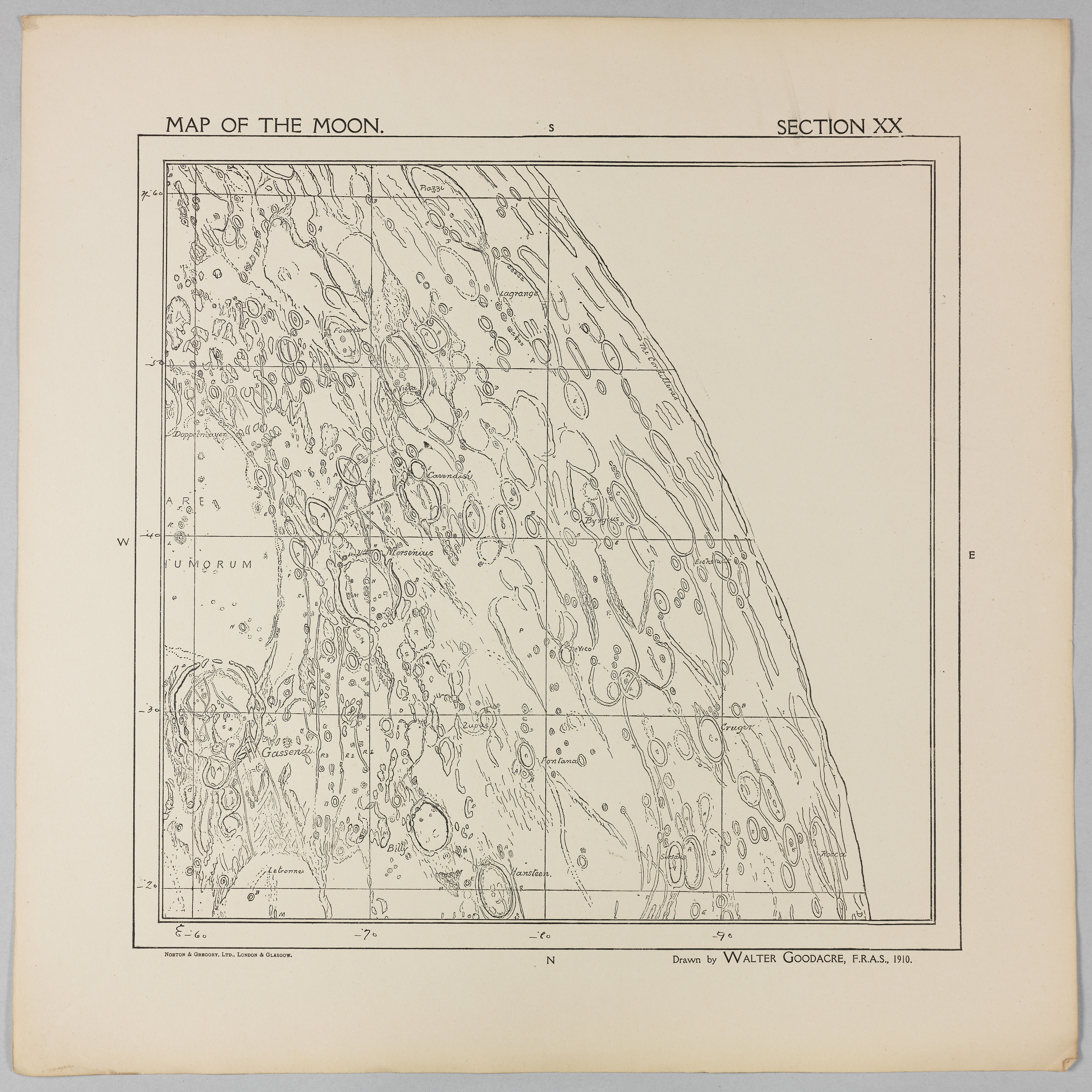 Goodacre's 1910 Map of the Moon: Section 20