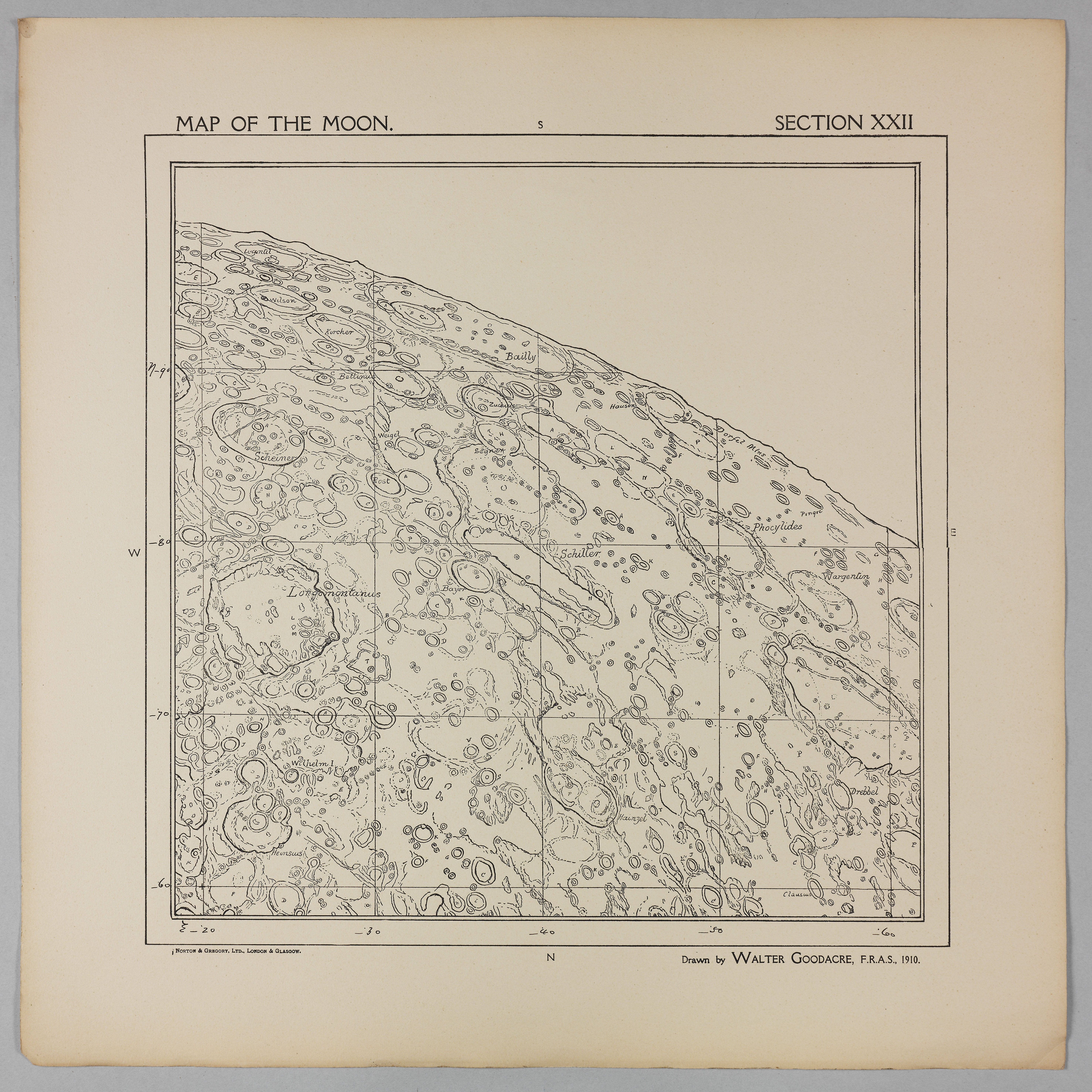 Goodacre's 1910 Map of the Moon: Section 22