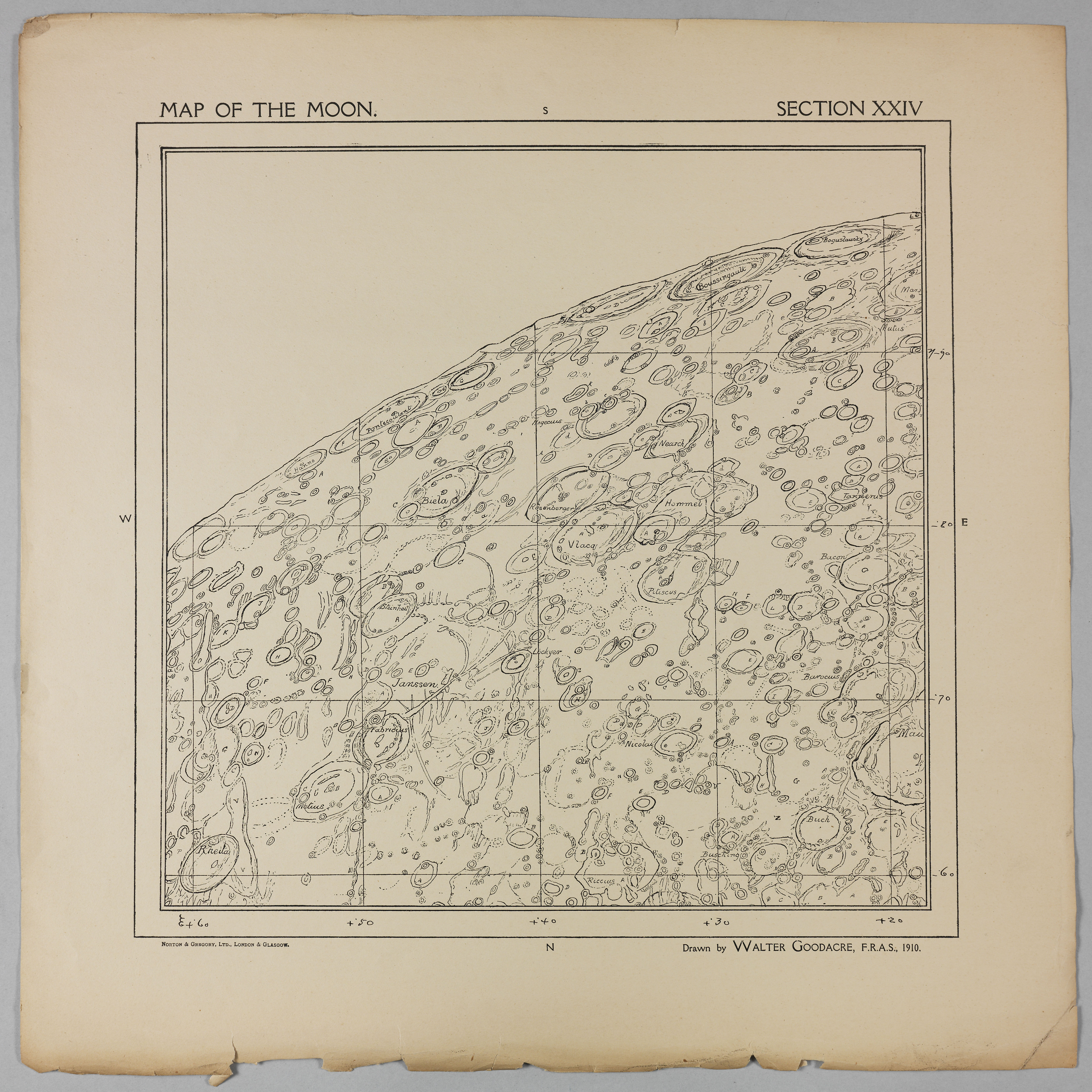 Goodacre's 1910 Map of the Moon: Section 24