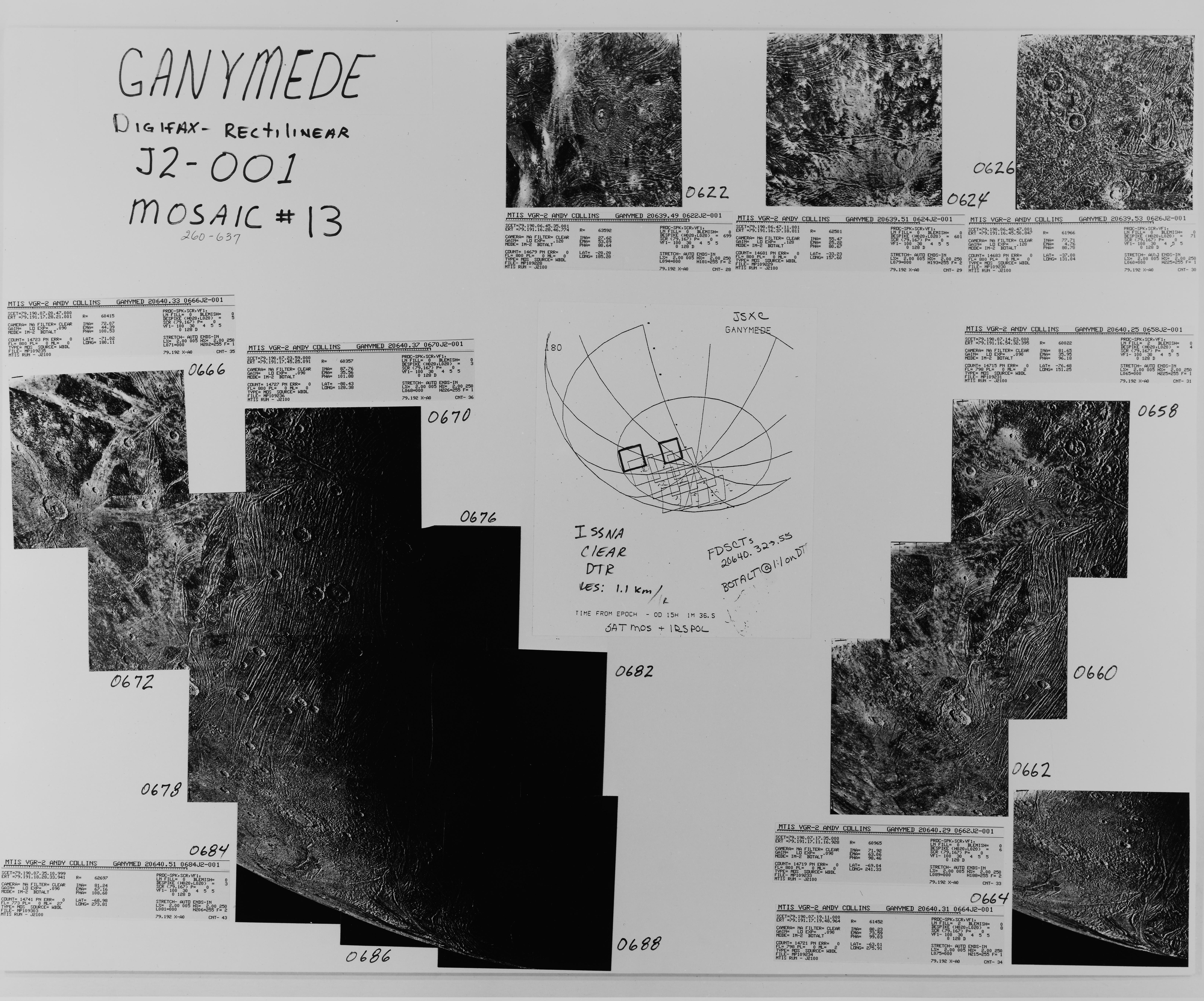 Jupiter's Moons in 1979: Ganymede by Voyager 2