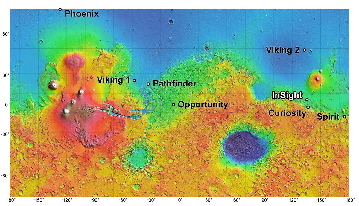 NASA Studying 4 Landing Site Options for 2016 Mars Mission
