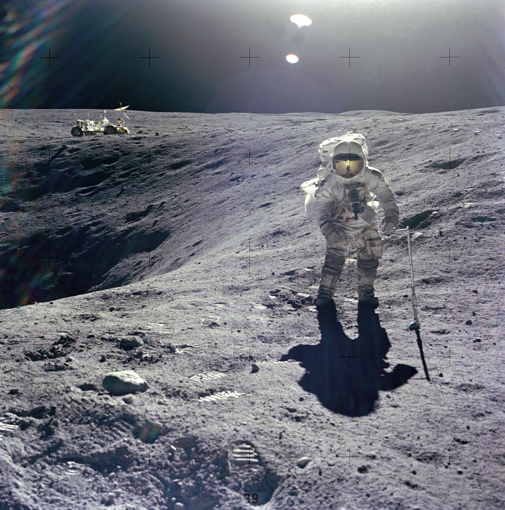 Space History Photo: Duke on the Crater's Edge
