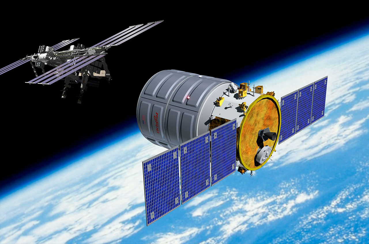 Artist's Rendition of Orbital Sciences' Cygnus Cargo Spacecraft