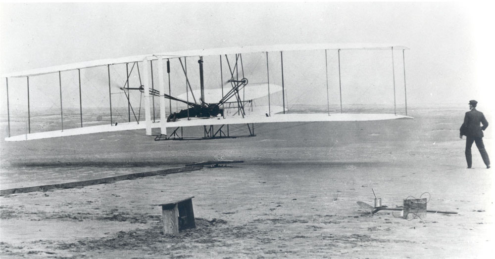 Space History Photo: The Wright Brothers First Heavier-than-air Flight