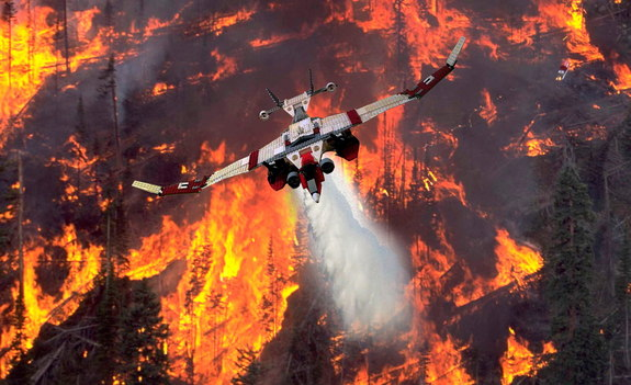 "The ""Flying Extinguisher 4000 Fish Eagle,"" a winner in the ""Inventing the Future of Flight"" category, is a long range supertanker that puts out wildfires. Image released Sept. 5, 2013."
