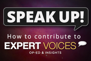 """If you're a topical expert — researcher, business leader, author or innovator — and would like to contribute an op-ed piece, <a href=""""mailto:expertvoices@techmedianetwork.com"""">email us here</a>."""