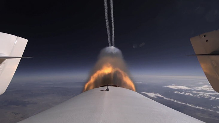 Virgin Galactic SpaceShipTwo 2nd Powered Test Tail Image #1