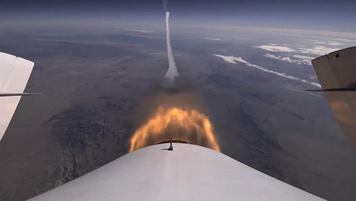 Virgin Galactic SpaceShipTwo 2nd Powered Test Tail Image #3