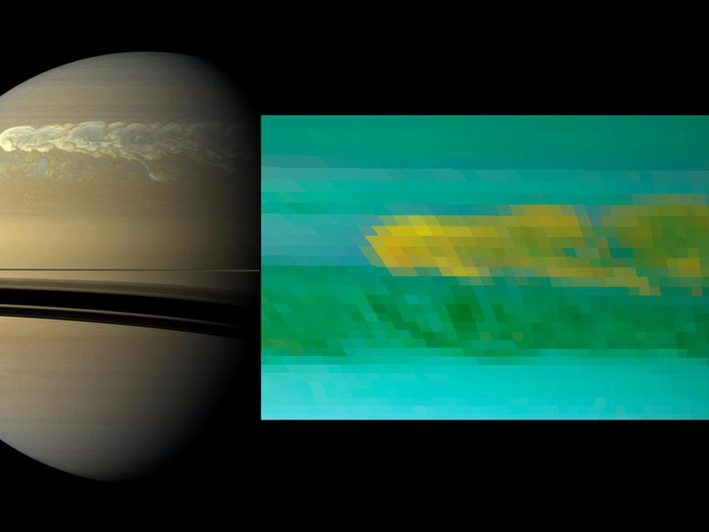 Monster Saturn Storm Dredged Up Icy Water from the Deeps