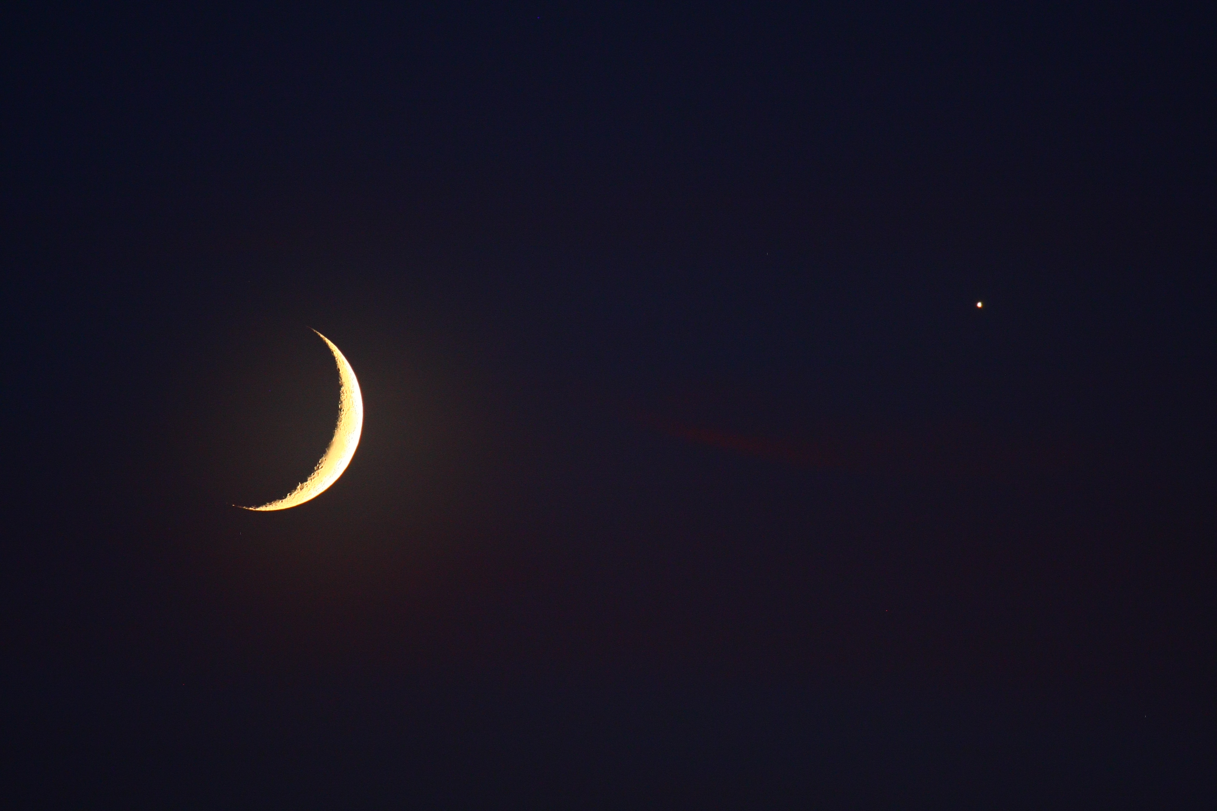 Moon and Venus Shine Over Indiana by Ben Nevills