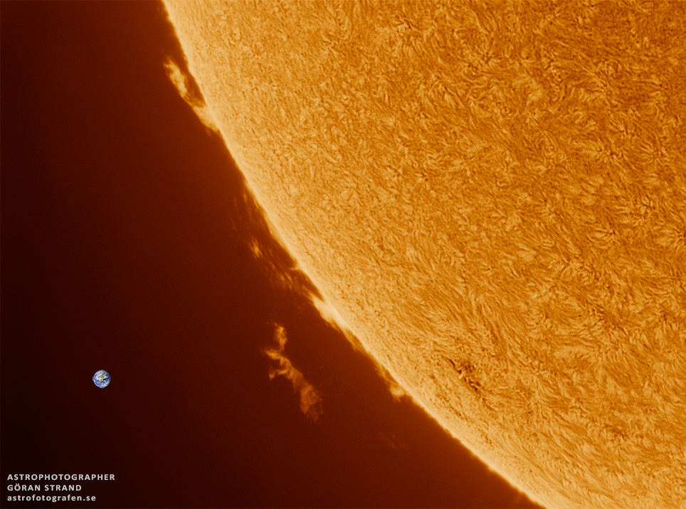 Stargazer Snaps Beautiful Blazing Solar Prominence (Photo)