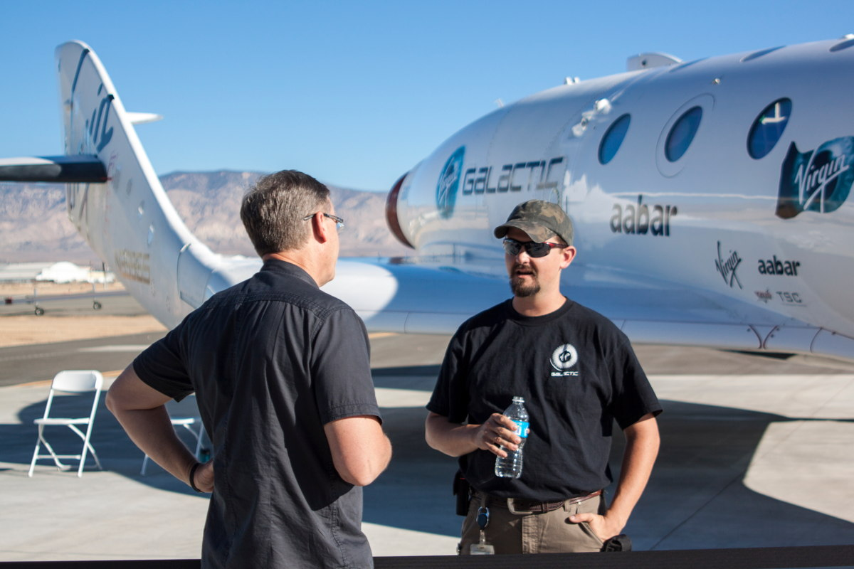 Interacting at Virgin Galactic's Career Day