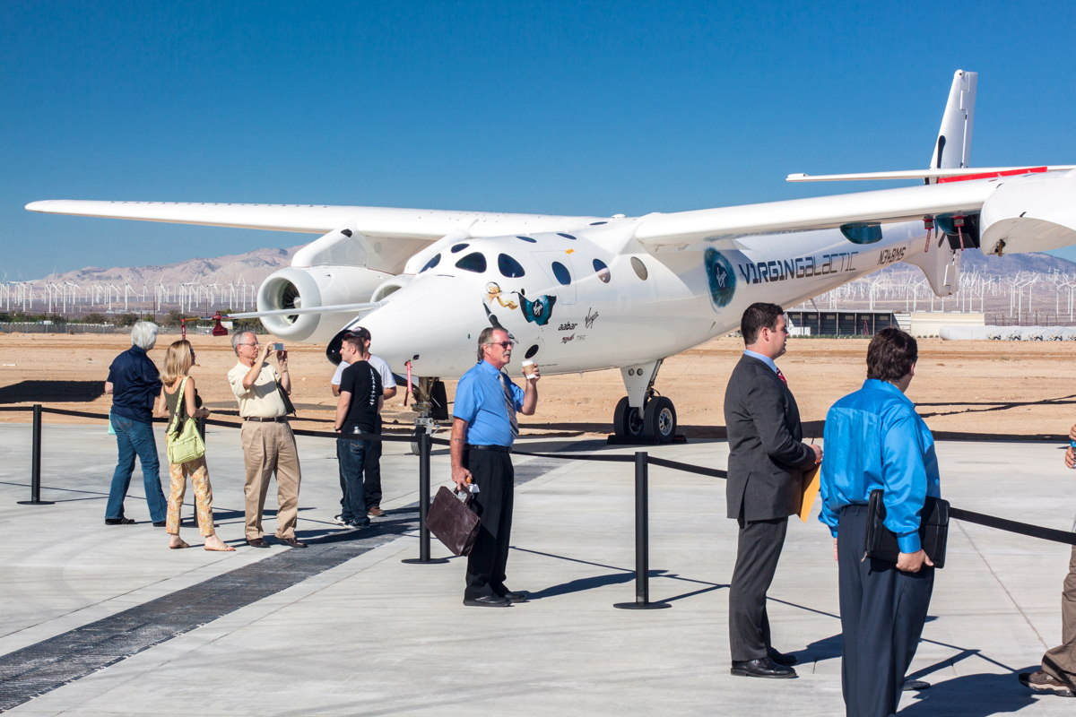 VMS Eve at Virgin Galactic Career Day