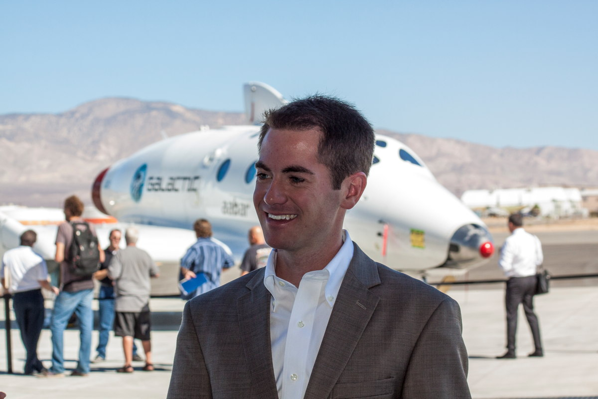 Job Applicant at Virgin Galactic Career Day