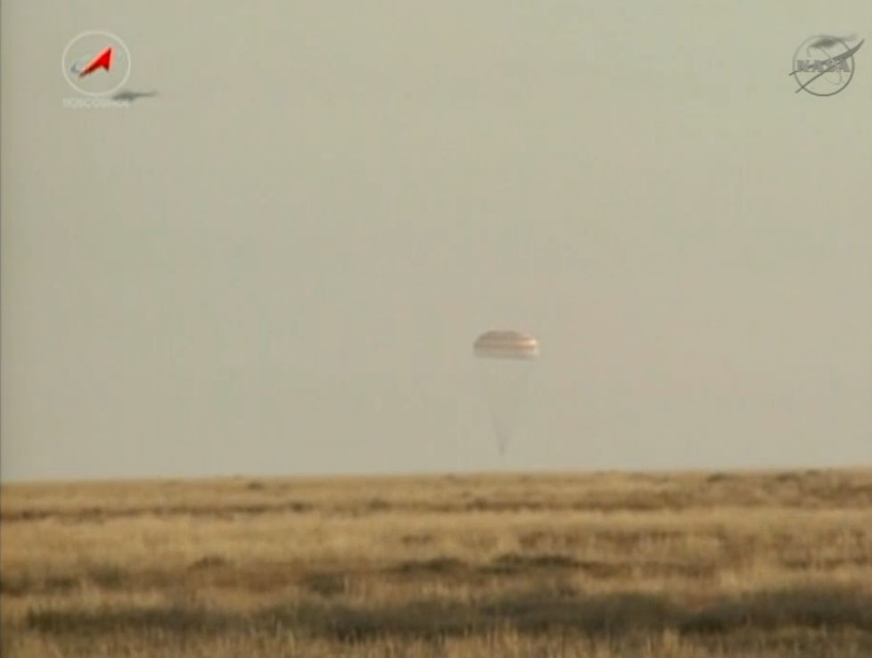 TOUCHDOWN! Soyuz Lands With Expedition 36 Crew