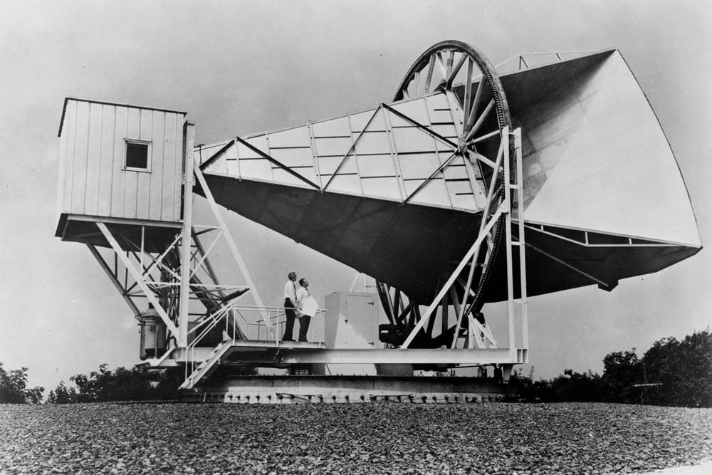 Space History Photo: ECHO Horn Antenna