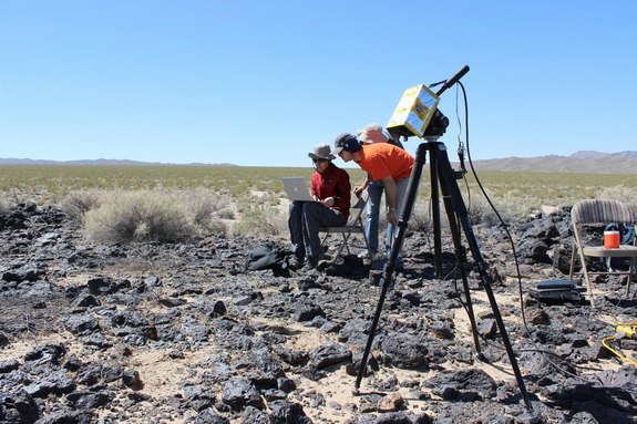 TextureCam snapping photos in California's Mojave Desert. Researchers hope the technology will allow rovers to make some of their own science evaluations on Mars rather than having to wait for controllers on Earth to do so.