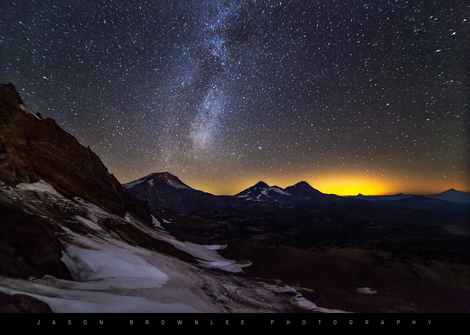 Milky Way in the Cascade Mountains
