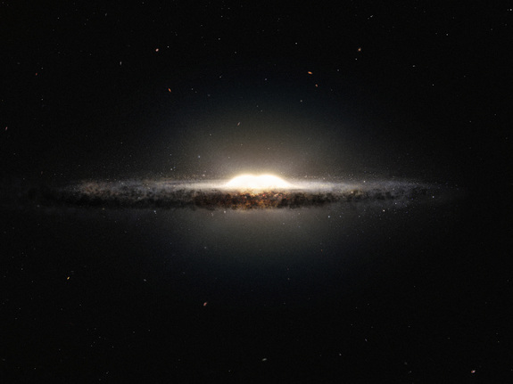 Artist's impression of the central bulge of the Milky Way.