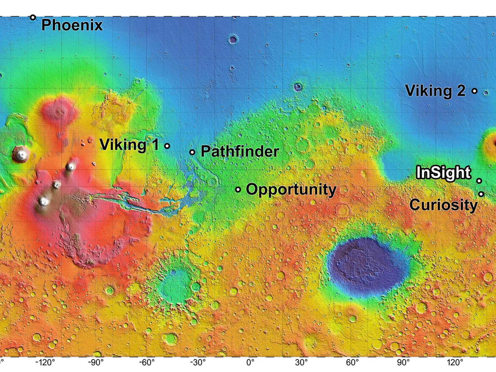 Semifinalist InSight Landing Sites