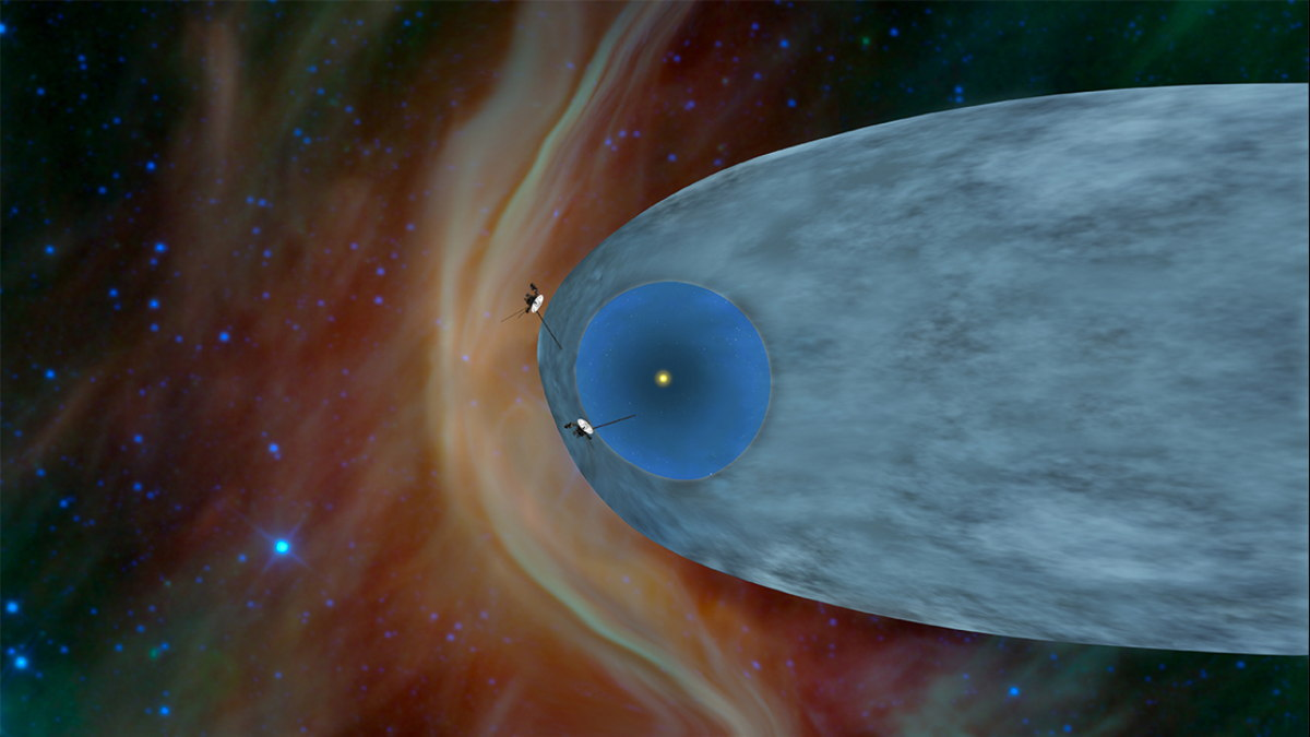 Locations of Voyager 1 and 2 as Voyager 1 Enters Interstellar Space
