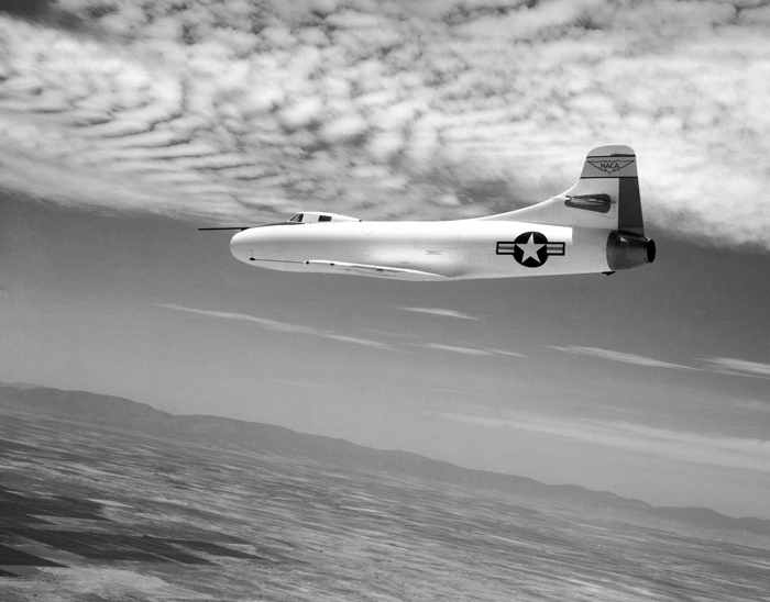 Space History Photo: D-558-1 in Flight