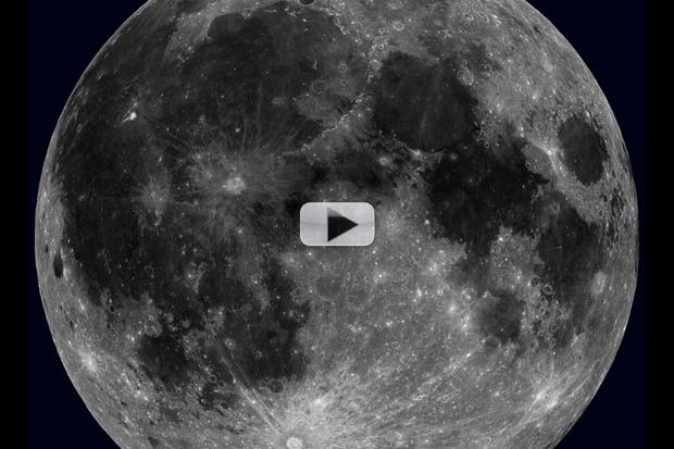 Mesmerizing Moon Rotation Video Created From Orbiter Images