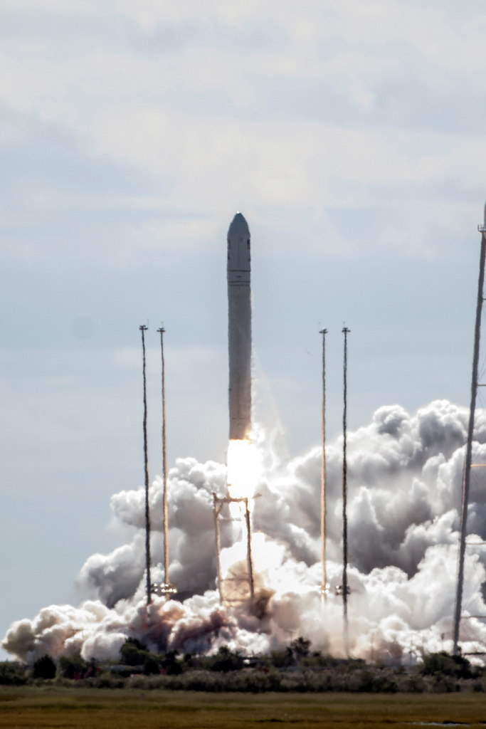 Antares Rocket Clears the Tower
