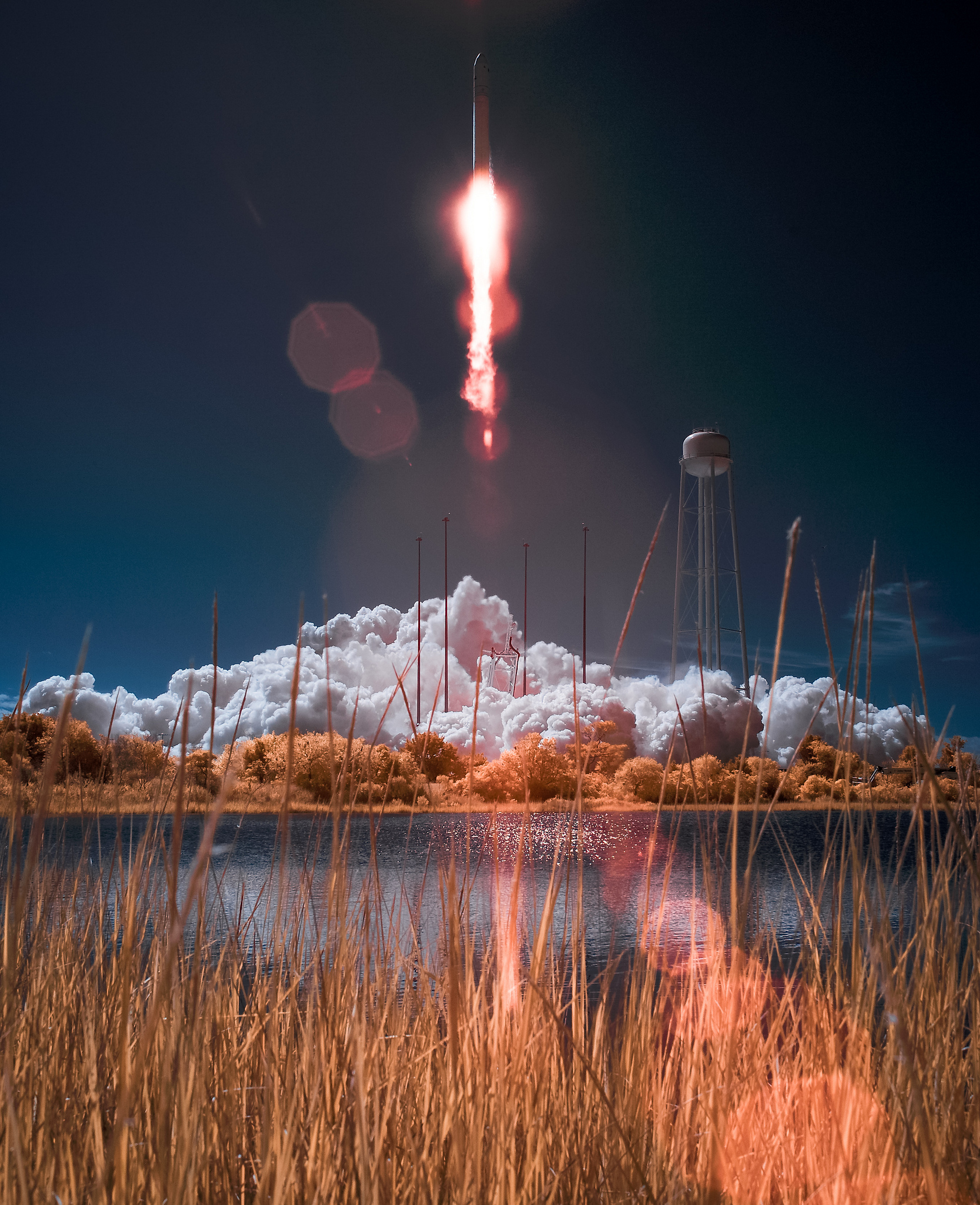 NASA Photographer Creates Awesome Private Rocket Launch Photo with Infrared
